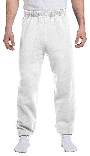 Jerzees Men's Preshrunk Waist Pill Resistant Sweatpant, White, X-Large ()