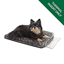 Furhaven Pet Dog Bed Heating Pad - ThermaPup Reflective Insulated Thermal Self-Warming Pet Bed Mat Pet Mat for Dogs & Cats, Silver, Small