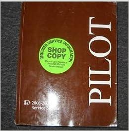 2006 honda pilot service manual
