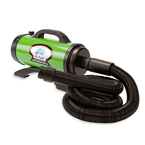B-Air Dryers BA-BPS-II-GN Pro Series II 8 HP Dryer Pet Shower and Bath Supplies, Large, Green