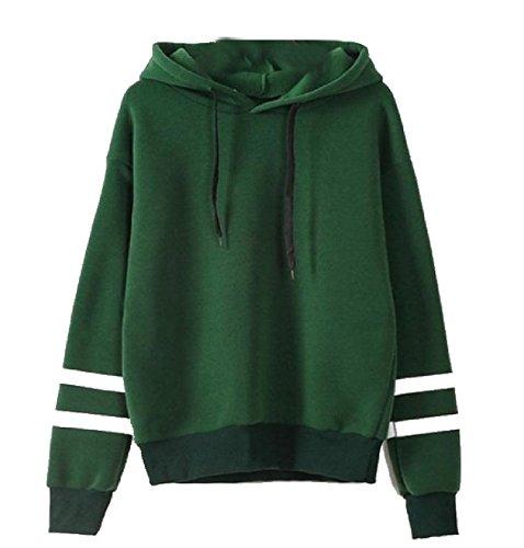 あからさま習熟度推測Nicellyer Women's Solid Stylish Sexy Stirpe Outwear Pullover Sweatshirts