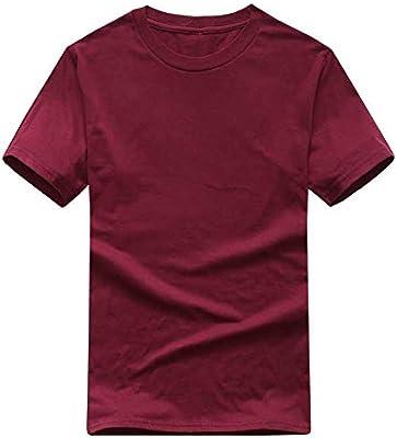 WJuing Camiseta para Hombre Color Sólido Camiseta Hombre Blanco Y ...