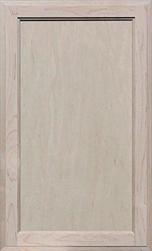 Flat Panel Cabinet Doors (Unfinished Maple Square Flat Panel Cabinet Door by Kendor, 28H x 17W)