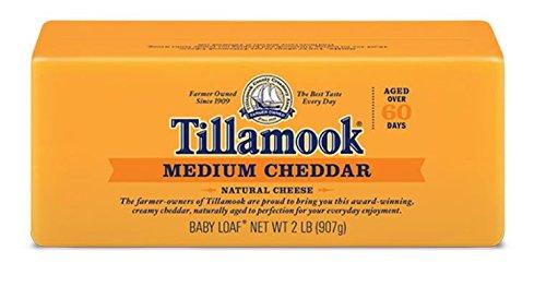 (Tillamook Cheese 2lb Baby Loaf (Choose Flavor Below) (Medium Cheddar))