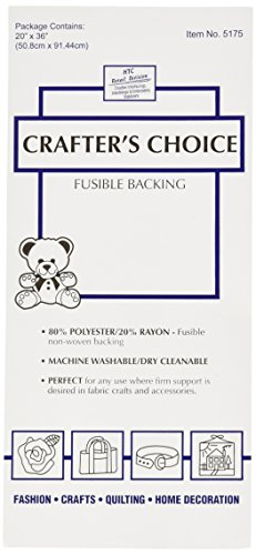 (HTC 5175 Crafters Choice Fusible Backing, 36 by 20-Inch)