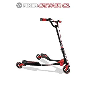 Amazon.com : Y-volution Yfliker C1 Carver Scooter - Matte ...