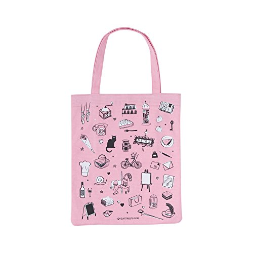 París Cm Bag Playa Bolsa De Tela Rosa Lovely Tote Y 40 Streets awtHZqB