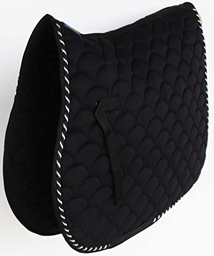 Professional Equine Horse Quilted English Saddle PAD Trail Dressage 7296BK