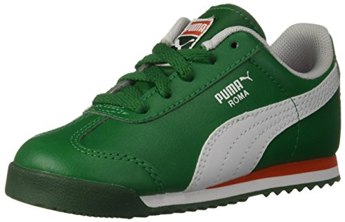 PUMA Baby Roma Basic INF Sneaker, Verdant Green White, 9 M US Toddler
