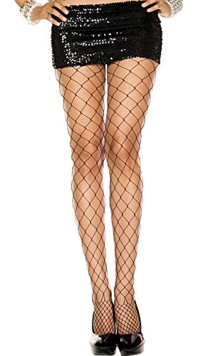 Black Diamond Fishnet Pantyhose - 2