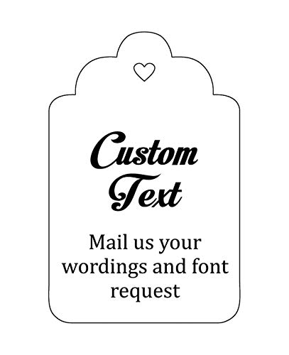 100 PCS Custom Made Hang Tags Personalized Wedding Favor Thank You Gift Tags