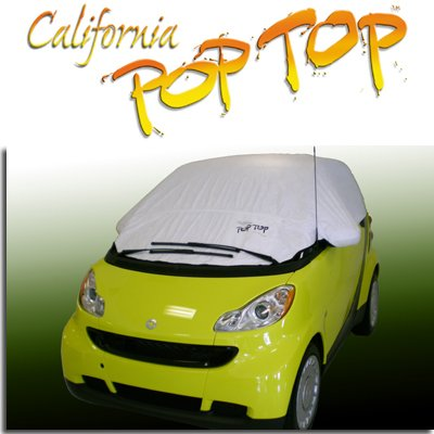 C18 - Smart Car DuPont Tyvek PopTop Sun Shade, Interior, Cockpit, Car Cover. For Both 450 and 451 Models - SEMA SHOW NEW PRODUCT AWARD WINNER