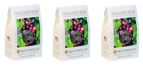 Butterfields Muscadine Buds Hard Candy 3 Ounce (Pack of 3) ()