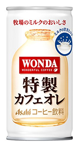 ASAHI WONDA coffee Cafe Au Lait 185g (30 cans) by Asahi