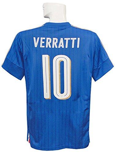 (プーマ) PUMA 16 17イタリア代表 ホーム 半袖 ヴェラッティ EURO2016バッジ+RESPECTバッジ付 748933-01 B01JFUAQ8G L