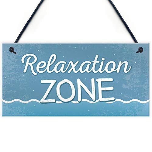 Relaxation Zone Hot Tub Man Cave Bathroom Garden Plaque Hanging Shed Chic Sign Home Decor from XLD Store