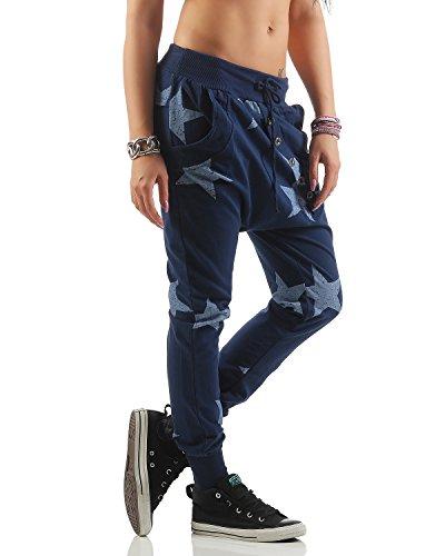 Il 40 Tempo Liberoyogapants blu Per 46 Pantaloni taglia Boyfriend 83988 Larghi Unica Big Sportivi Zarmexx Star Jogger Oc4wfHXq11