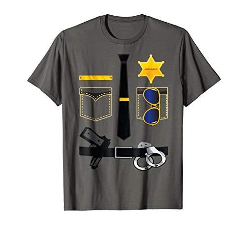 Police Sheriff Uniform Funny Halloween Costume T Shirt -