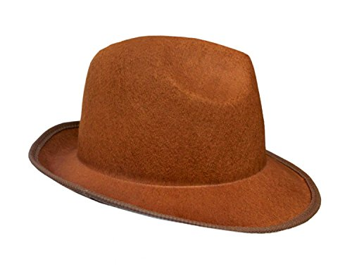 Forum Novelties Men's Night Out Novelty Adult Felt Fedora Hat, Brown, One Size ()