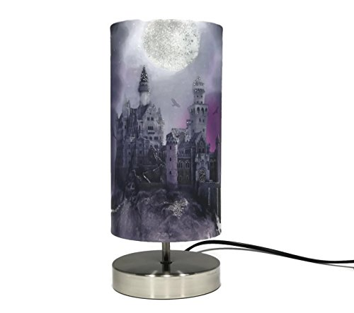 Magical Kingdom Lamp Light Lampshade Boys Girls Bedroom Bedside Table Desk Night Light Lamps Glitter Detail Accessories Gifts