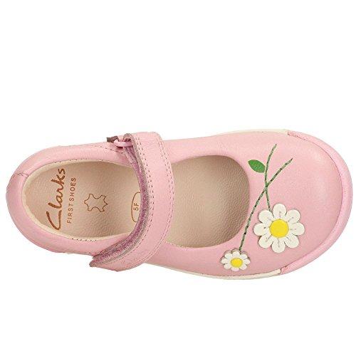 Clarks filles pré-scolaire Douceur Confiture TVF Chaussures en cuir en bébé rose