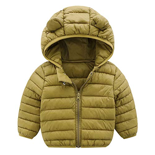 Yezijin Toddler Baby Kids Little Boy Girl Winter Hooded Jacket Thick Keep Warm Outerwear Coat for 0-4 Y (110(Age: 2-3 Years), -