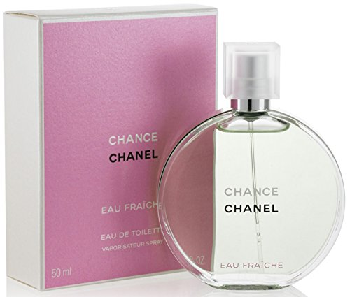 Chancè Chanèl Eau Fraiche Eau De Toilette Spray, for Woman EDT 1.7 fl oz, 50 ml (Perfume Women Chance)