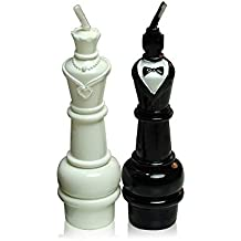 ILIKEPAR Birtday Candle Set of 2 Mini Chess Couple,Decorative Candle Cake Topper Valentine's Day, Wedding Decoration