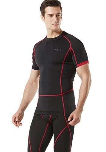 TM-MUB13-KKR_Small Men's Short Sleeve T-Shirt Cool Dry Compression Baselayer MUB13