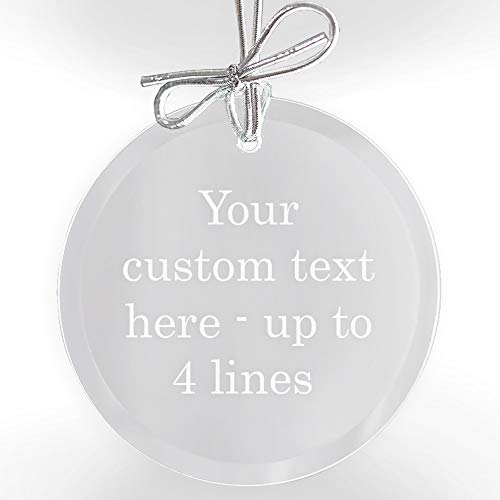 Engravable Christmas Ornaments (Lifetime Creations Create Your Own Personalized Ornament: Custom Engraved Glass Christmas Ornament, Design Your Own Glass Ornament with Custom)