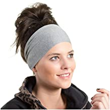 Lightweight Sports Headband - Non Slip Moisture Wicking Sweatband - Ideal for Running, Cycling, Hot Yoga and Athletic workouts - Designed for Women Borrowed by Men - by Red Dust Active