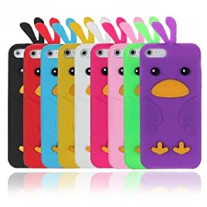 Colorful Cute Lovely Chick Shaped Soft Silicone Case For iPhone 5 --- Color:Purple