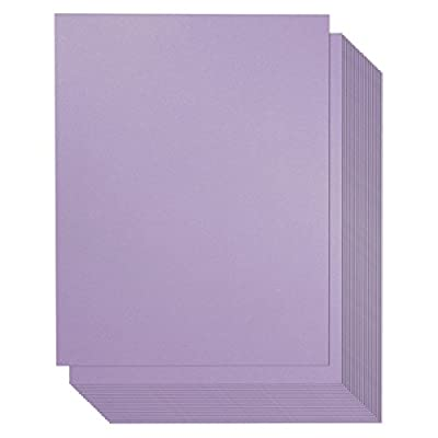 96 Count Metallic Amethyst Purple Stationery Paper / Invitation Paper for Writing, Scrapbooking, Letters, Certificates, Crafts, 8.5 x 11 Inches