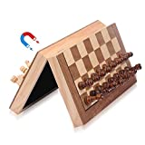 ColorGo Magnetic Wood Chess Set with Folding