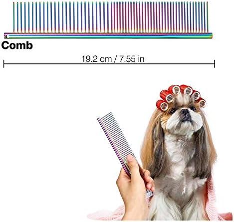 Tijeras para Mascotas, Sendowtek 6 Kit de Tijeras para Mascotas Profesionales de Acero Inoxidable para Gatos y Perros, Kit de Peluquería Canina para Perros o Gatos, Apto para Todo Cuerpo 5