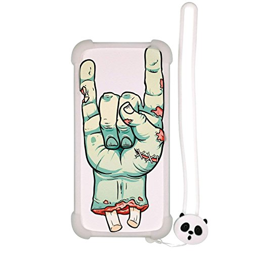 Case for Blu Studio View XL Case Silicone Border + PC Hard backplane Stand Cover Luminous Effect SZ