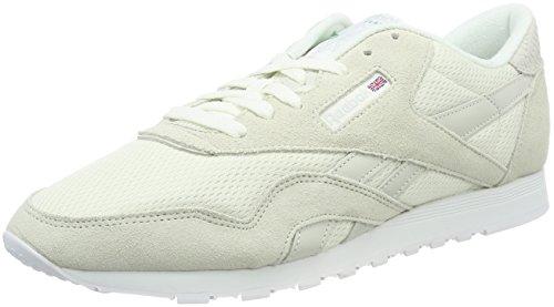 Reebok Classic Nylon Fbt, Sneakers Basses Femme, Beige Blanc (Chalk/white/skull Grey/big Green/electric Flash)