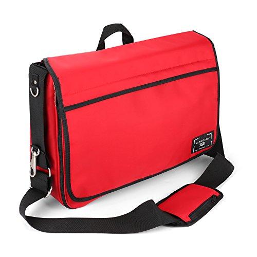Diaper Dash Bag Messenger (Mommy Bag Nappy Bag Messenger Diaper Bag for Mom and Dad, Red)