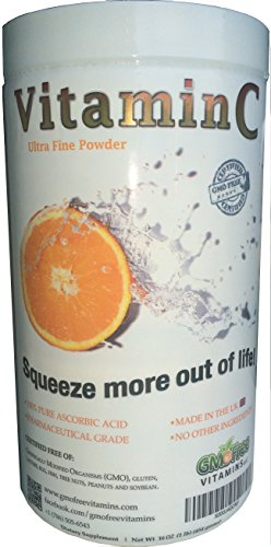 Polvo de vitamina C, ácido L-ascórbico, no GMO, Made in UK, Ultra fina Quali-C, 454 gramos, 1 libra
