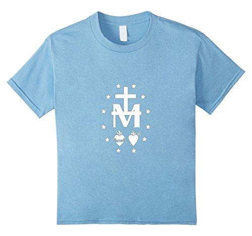 Kids Miraculous Medal T-Shirt Virgin Mary Sacred Heart Gift Tee 10 Baby (Designer Medal)