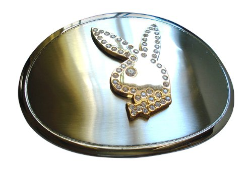 Playboy Belt Buckle (Famous Playboy Bunny Rhinestone Round Belt Buckle)