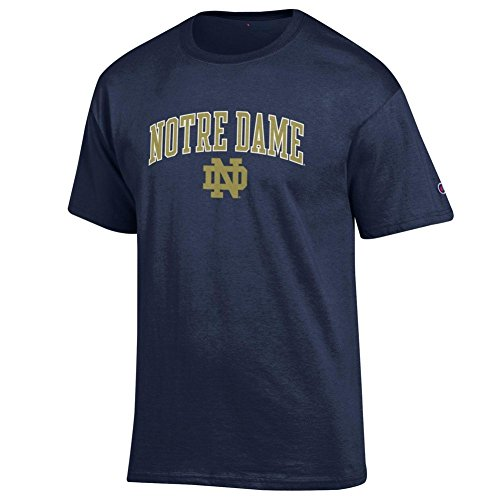 Elite Fan Shop Notre Dame Fighting Irish Tshirt Navy - XL - Navy Blue (Dame Notre Shirt)