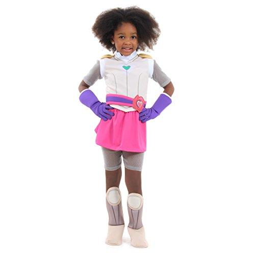 Nella Super Heroína Infantil 35440-p Sulamericana Fantasias Cinza/rosa P 4 Anos