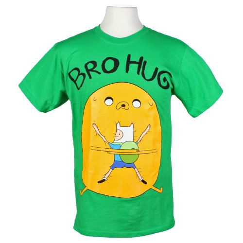 Adventure Time Bro Hug Mens T-shirt (Large)