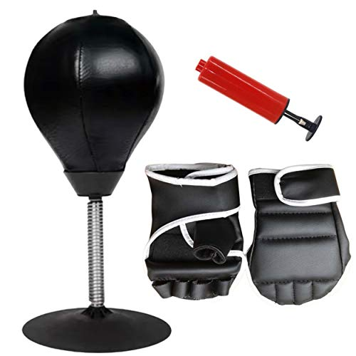 Desktop Punching Bag for Stress Relief – This Mini Inflatable Boxing Bag is a Cool Fun Desk /Tabletop Toy for Adults…