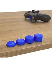innoGadgets PS4 ve PS5 Controller ile uyumlu başlık | 8'li set silikon koruyucu kapak | daha fazla oyun hissi için | analog çubukları aşınmaya karşı korur | kolay temizlenir | mavi
