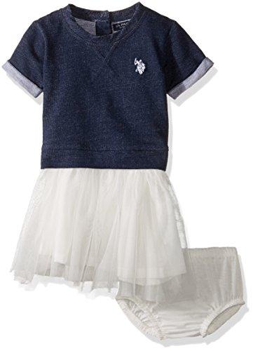 U.S. Polo Assn. Baby Girls Knit and Tutu Dress