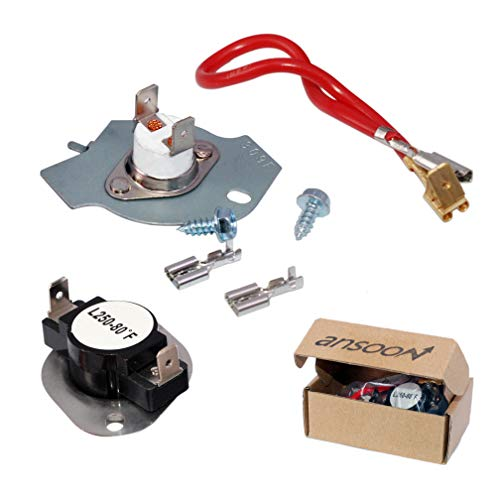 (279816 Dryer Thermostat Kit for Whirlpool, Kenmore Dryers Replaces AP3094244 3399848)