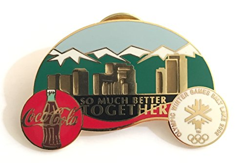 Rare Coca-Cola So Much Better Together Salt Lake City Winter Olympics Pin LE/3000