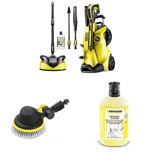 Kärcher K4 Premium Full Control Home Pressure Washer with Rotating Brush and universal Detergent 1L